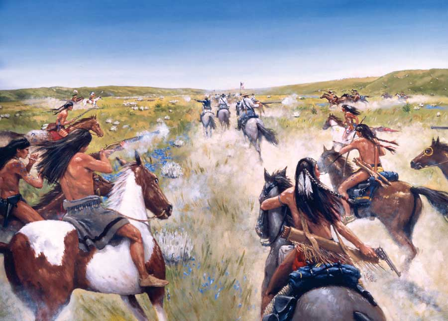 an analysis of the outcome of the involvement of colonel custer in the battle of the little bighorn In the last stand, nathaniel philbrick's new account of the battle of the little bighorn, the outcome of custer's offensive is painted in the bluntest possible terms: reno, benteen, and a significant portion of their commands survived.